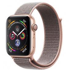 Apple Watch Series 4, 44мм корпус из алюминия цвета золото, спортивный браслет розовый песок