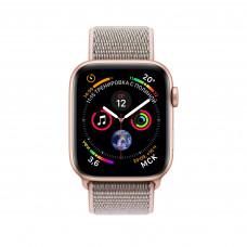 Apple Watch Series 4, 40мм корпус из алюминия цвета золото, спортивный браслет розовый песок