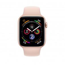 Apple Watch Series 4, 40мм корпус из алюминия цвета золото, спортивный ремешок розовый песок