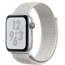 Apple Watch Nike+ Series 4, 44мм корпус из алюминия цвета серебро, спортивный браслет цвета снежная вершина