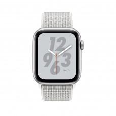 Apple Watch Nike+ Series 4, 40мм корпус из алюминия цвета серебро, спортивный браслет цвета снежная вершина