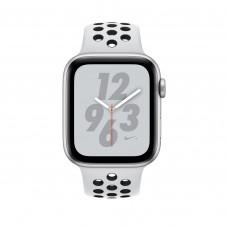 Apple Watch Nike+ Series 4, 40мм корпус из алюминия цвета серебро, спортивный ремешок цвета чистая платина/чёрный