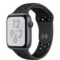 Apple Watch Nike+ Series 4, 44мм корпус из алюминия серый космос, спортивный ремешок чёрного цвета