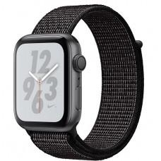 Apple Watch Nike+ Series 4, 44мм корпус из алюминия серый космос, спортивный браслет чёрного цвета