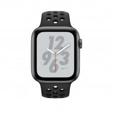 Apple Watch Nike+ Series 4, 40мм корпус из алюминия серый космос, спортивный ремешок чёрного цвета