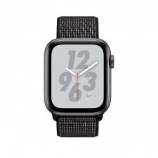 Apple Watch Nike+ Series 4, 40мм корпус из алюминия серый космос, спортивный браслет чёрного цвета