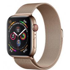 Apple Watch Series 4, 44мм стальной корпус цвета золото, миланский браслет золотого цвета