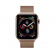 Apple Watch Series 4, 40мм стальной корпус цвета золото, миланский браслет золотого цвета