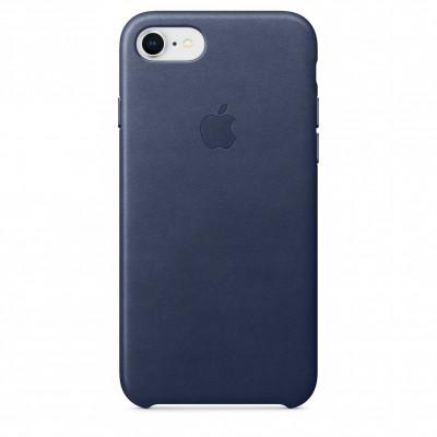 Apple Leather Case iPhone 8/7 темно-синий