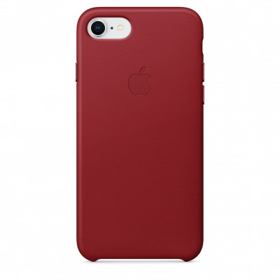 Apple Leather Case iPhone 8/7 красный