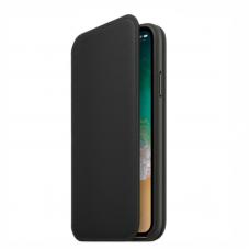 Apple Leather Folio iPhone X чёрный