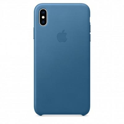 Apple Leather Case iPhone Xs Max лазурная волна