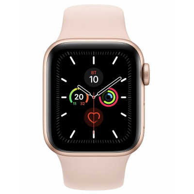 Apple Watch Series 5 40mm Gold Aluminum Case with Pink Sand Sport Band