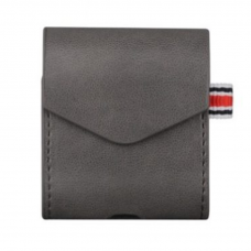 Чехол для AirPods кожаный, серый