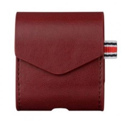 Чехол для AirPods кожаный, красный