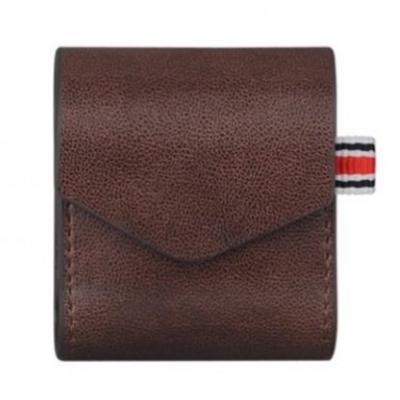 Чехол для AirPods кожаный, коричневый