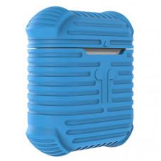 Чехол для AirPods противоударный, голубой