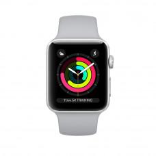 Apple Watch Series 3, 38 mm Silver Aluminum Case, Fog Band корпус 38 мм из серебристого алюминия, спортивный ремешок дымчатого цвета