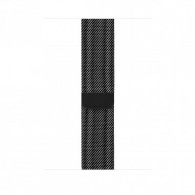 Миланский сетчатый браслет 44 мм черный космос
