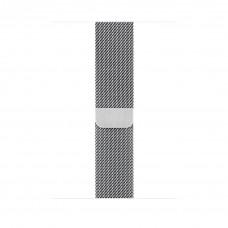 Миланский сетчатый браслет 44 мм серебристый
