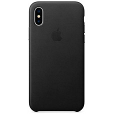 Apple Leather Case iPhone X черный