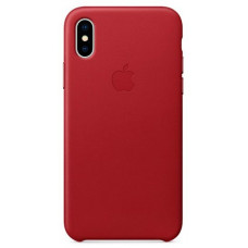 Apple Leather Case iPhone X красный