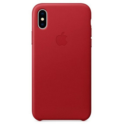 Apple Leather Case iPhone Xs Max красный