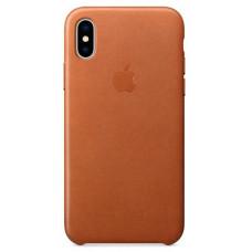 Apple Leather Case iPhone X / Xs золотисто-коричневый