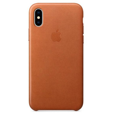 Apple Leather Case iPhone X золотисто-коричневый