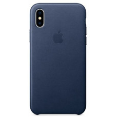 Apple Leather Case iPhone Xs Max темно-синий