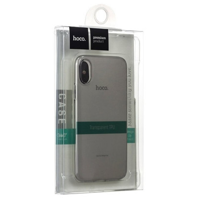 Чехол Hoco Light Series iPhone X / XS силиконовый, прозрачный