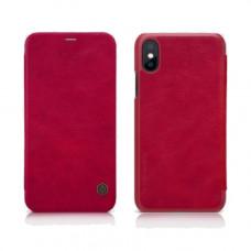 Чехол-книжка Nillkin для iPhone X / XS красный кожаный