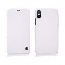 Чехол-книжка Nillkin для iPhone X / XS белый кожаный