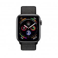 Apple Watch Series 4, 40мм корпус из алюминия серый космос, спортивный браслет чёрного цвета