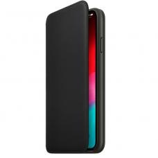Apple Leather Folio iPhone XS Max чёрный