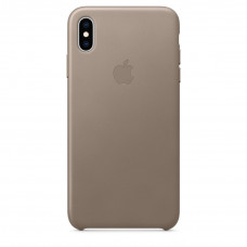 Apple Leather Case iPhone Xs Max платиново-серый