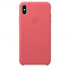 Apple Leather Case iPhone Xs Max розовый пион