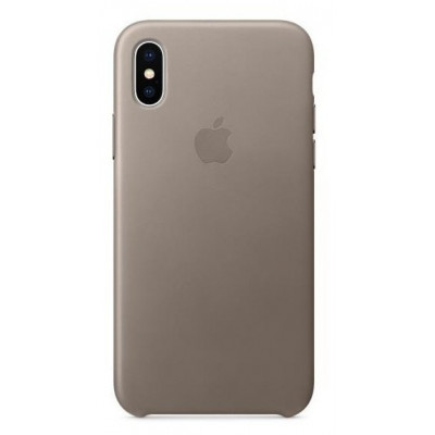 Apple Leather Case iPhone X Taupe