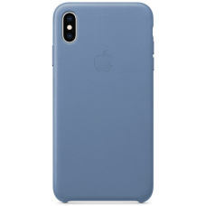 Apple Leather Case iPhone Xs Max Cape Cod Blue