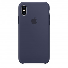 Silicone Case iPhone XS Midnight Blue