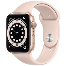 Apple Watch Series 6 44mm Gold Aluminum Case with Sport Band