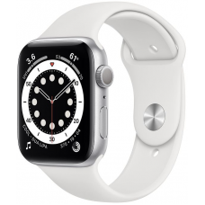 Apple Watch Series 6 44mm Silver Aluminum Case with Sport Band