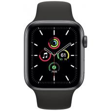 Apple Watch Series SE 44mm Space Gray Aluminum Case with Sport Band