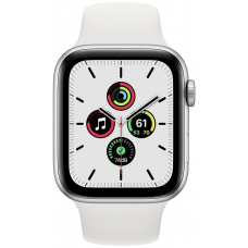 Apple Watch Series SE 44mm Silver Aluminum Case with Sport Band