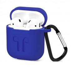 Чехол для AirPods силиконовый, синий