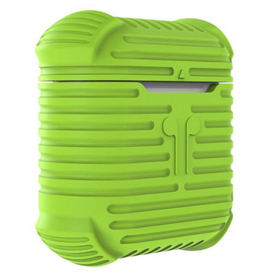 Чехол для AirPods противоударный, зеленый