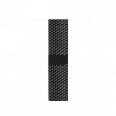 Миланский сетчатый браслет 40 мм черный космос