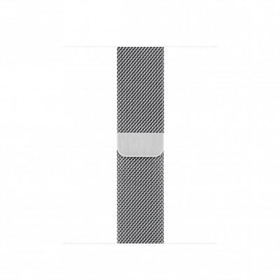 Миланский сетчатый браслет 40 мм серебристый